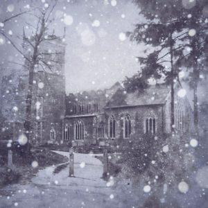 Snow on Stonham Aspal Church